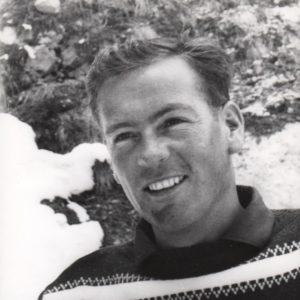 Portrait de Jean Vuarnet créteur de la marque de lunettes de sport