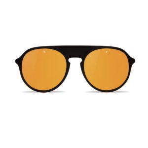 Lunettes de soleil Vuarnet ronde noires verres miroir gold