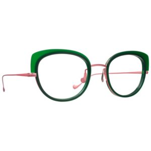 Nature morte lunettes de la collection 2018 Caroline abram Papillon verte