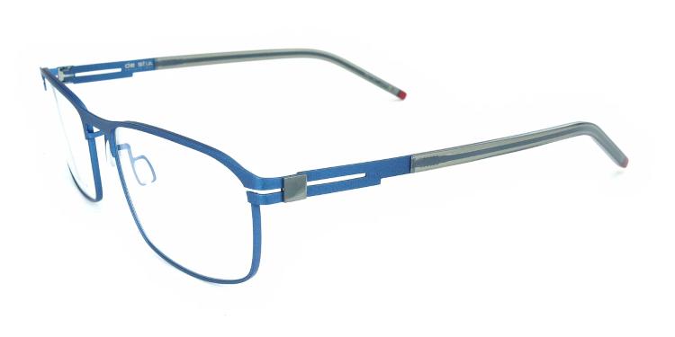 lunettes rectangulaires bleues pour hommes de la marque hollandaise De Stijl
