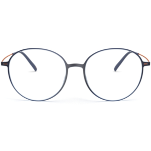 Lunettes Silhouette ronde bleu oversize