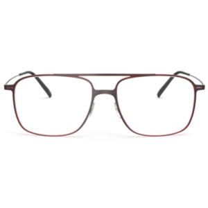 Lunettes Silhouette rectangulaire rouge double pont
