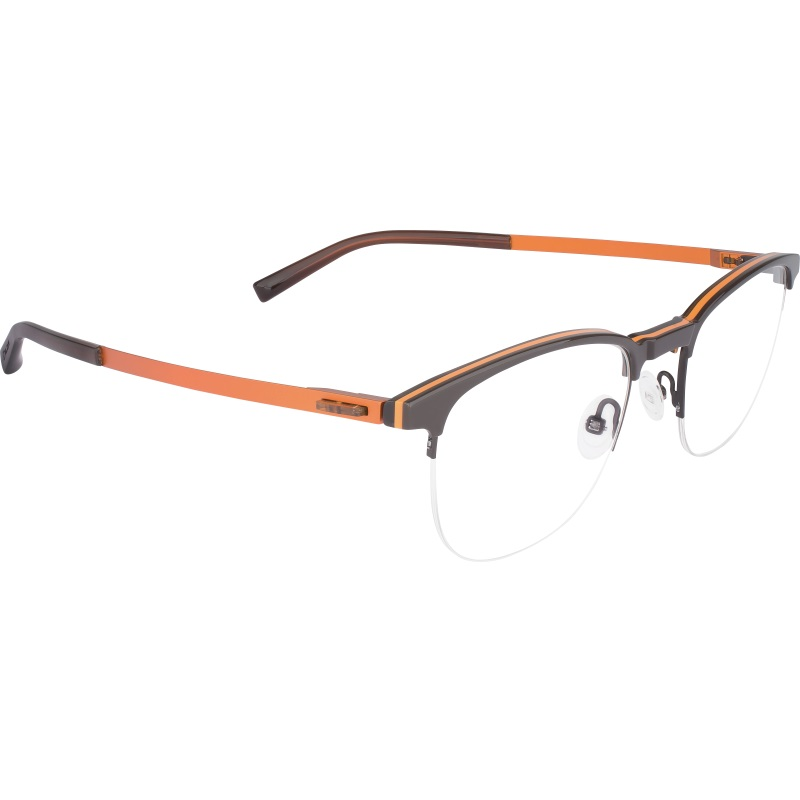 Lunettes Dilem carré nylor brun et orange