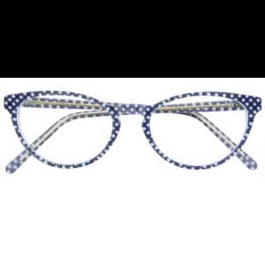 Lunettes Lafont pour femme papillon bleu à pois blanc