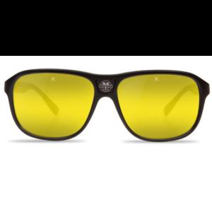 Lunettes de soleil Vuarnet pour homme rectangulaire noir verres jaunes pour conduite de nuit et faible contraste