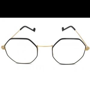 Lunettes de la marque XIT octogonale noir et dorée mode 2019
