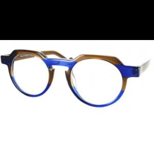 Lunettes de la marque XIT ronde bicolore à rayure brun et bleues