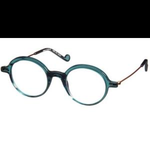 Lunettes de la marque XIT ronde femme coloris bleu vert d