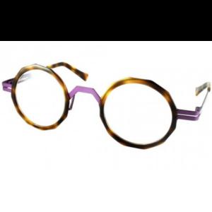 Lunettes de la marque XIT ronde octogonale écaille et violet