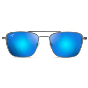 Lunettes Maui Jim solaires pilote carré gun verres miroir bleu
