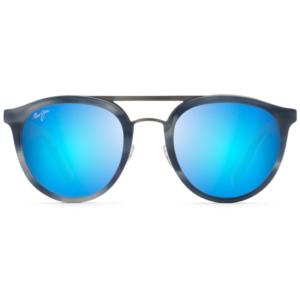 Lunettes Maui Jim solaires pilote goûte gris verres miroir bleu