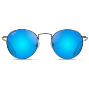 Lunettes Maui Jim solaires métal gun verres miroir bleu