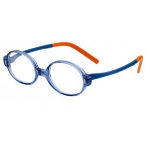 Lunettes Minima enfants bleu et orange spécial anti casse