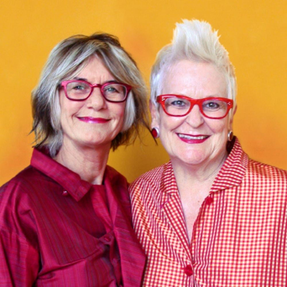Portrait de Gai Gherardi et Barbara McReynolds, créatrice des lunettes L.A. Eyeworks