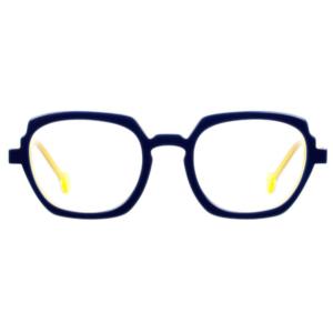 Lunettes L.A. Eyeworks carré bleu jaune fluo