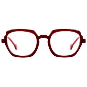 Lunettes L.A. Eyeworks carré rouge