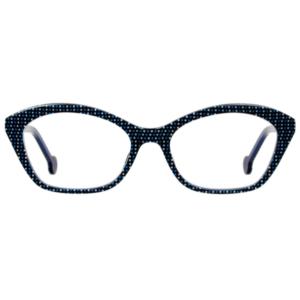 Lunettes L.A. Eyeworks papillon avec pixel bleu