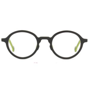 Lunettes L.A. Eyeworks ronde noir et vert