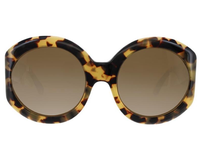 Lunettes de soleil portées par Jackie Kennedy en écaille ronde oversize très à la mode en 2019