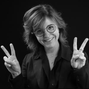 Créatrice de la marque de lunettes Nathalie Blanc saisanr peace