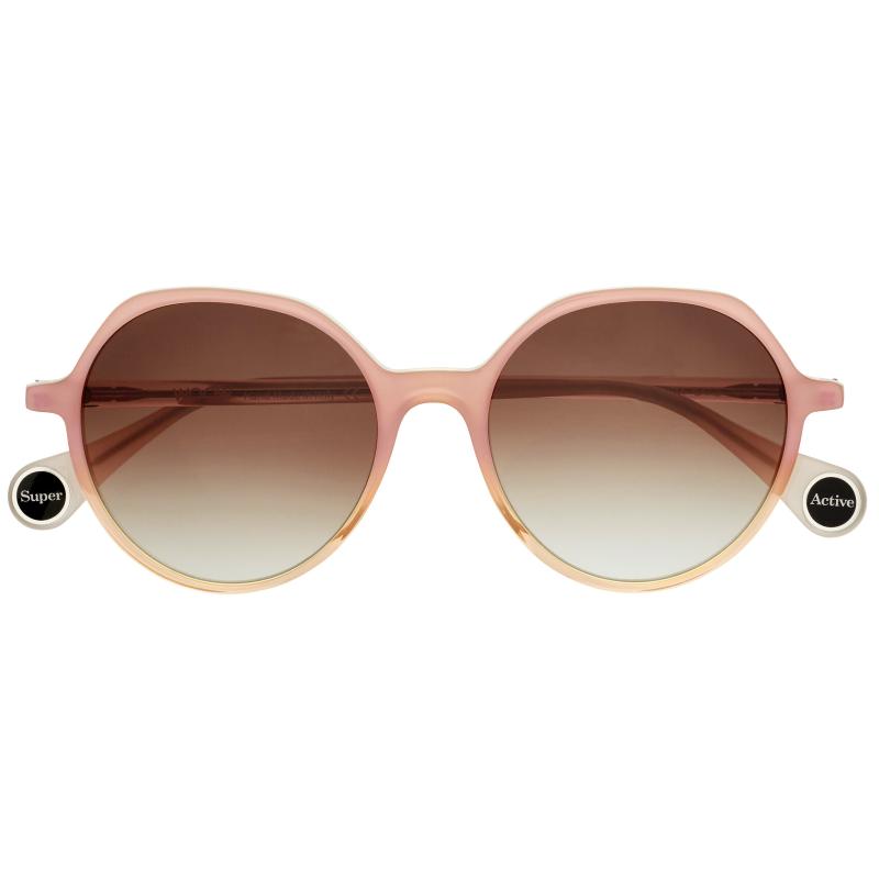 lunettes de soleil pour femme rondes de coloris nude de la marque Woow