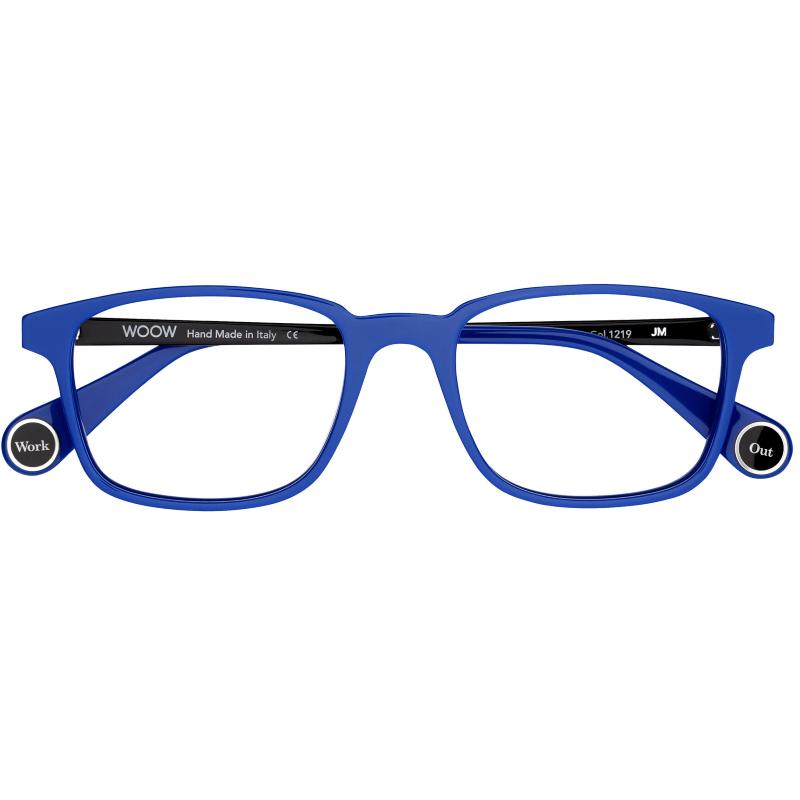 Lunettes rectangulaires homme de la marque WOOW bleues